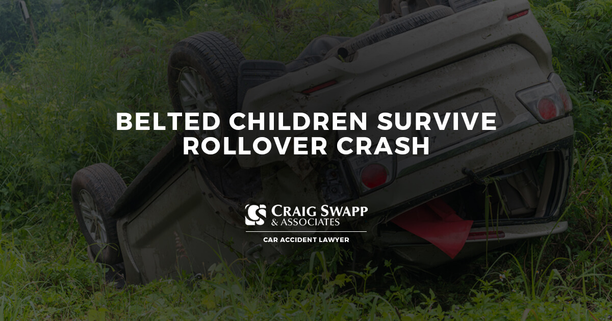 Belted Children Survive Rollover Crash | CLICK HERE