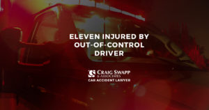 Eleven Injured by Out-Of-Control Driver