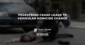Pedestrian Crash Leads to Vehicular Homicide Charge