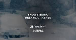 Snows Bring Delays, Crashes